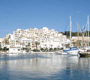 Houses on the port of Moraira