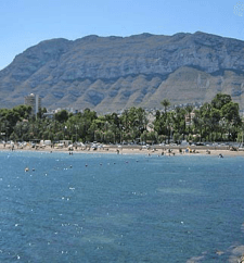 la playa de las Rotas.