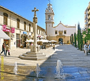 Cozy square with bars and restaurants in downtown Denia