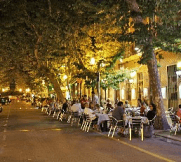 Promenade with shops and restaurands in Denia